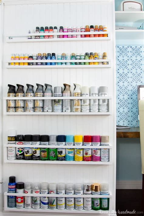 Diy Painted Utility Shelves