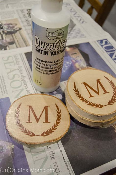 Diy Painted Wood Coasters As Wedding