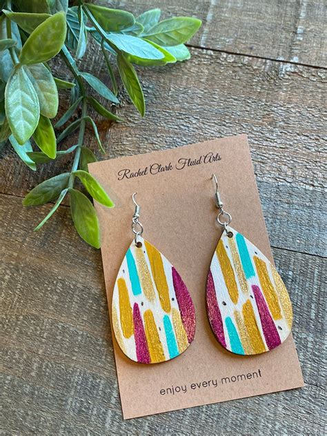 Diy Painted Wood Earrings Images