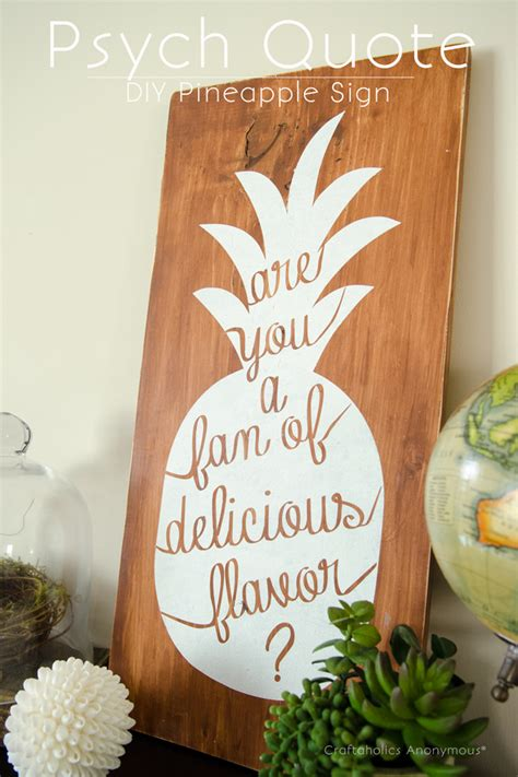 Diy Painted Wood Pineapple Signs