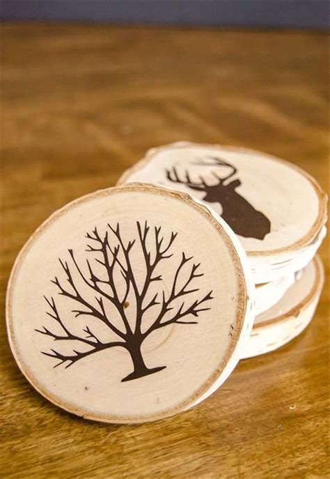 Diy Painted Wood Slice Coasters
