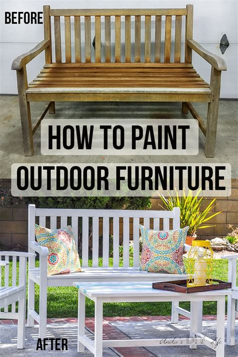Diy Painting Outdoor Wood Furniture