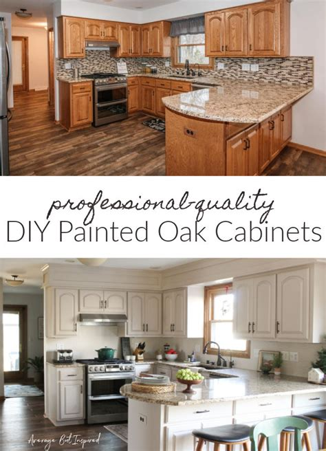 Diy Painting Over Oak Cabinets