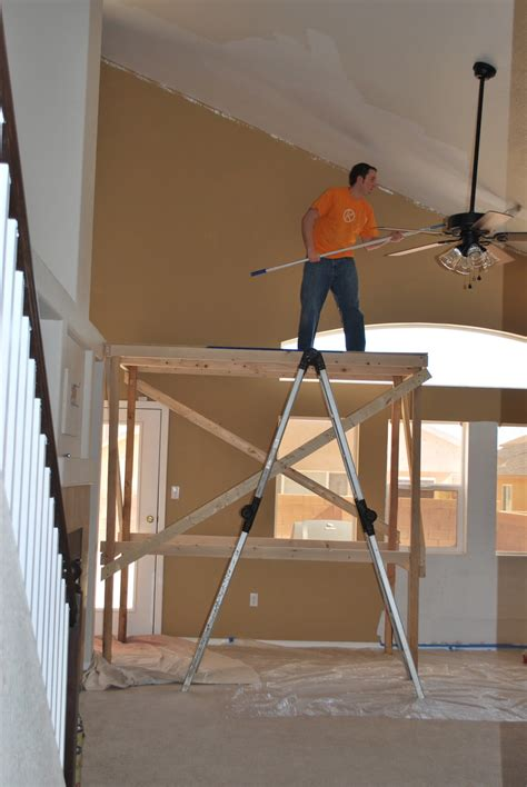 Diy Painting Staircase Scaffolding