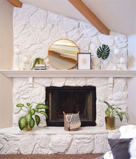 Diy Painting Stone Fireplace