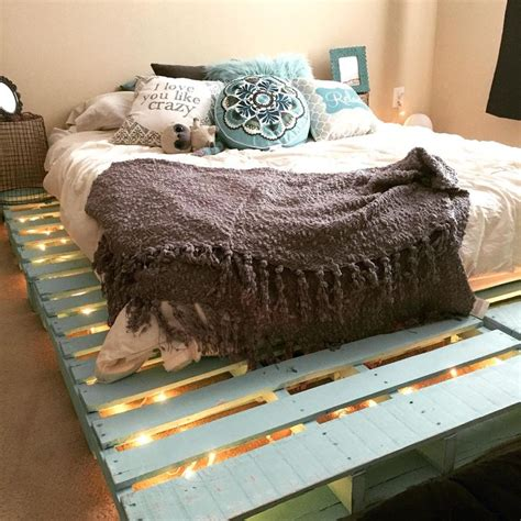 Diy Pallet Bed With Lights Instructions For Form