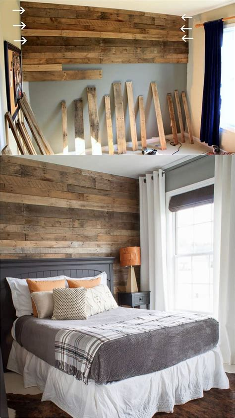 Diy Pallet Bedroom Wall