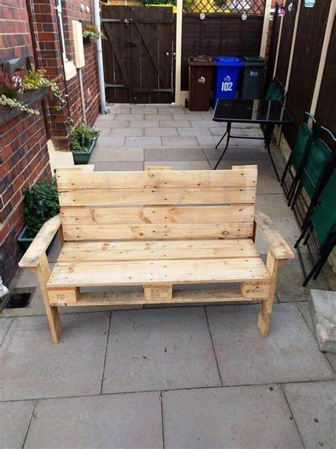 Diy Pallet Bench Pinterest