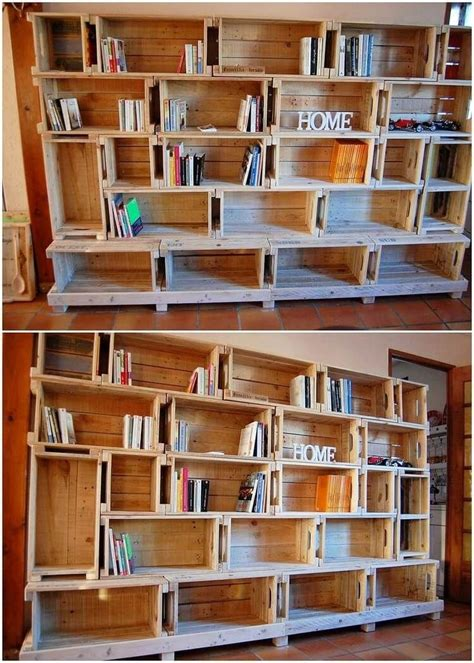 Diy Pallet Bookcase Instructions