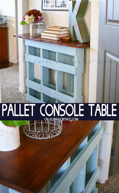Diy Pallet Console Table Youtube