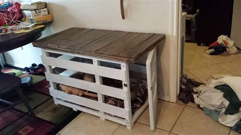 Diy Pallet Dog Crate Cover
