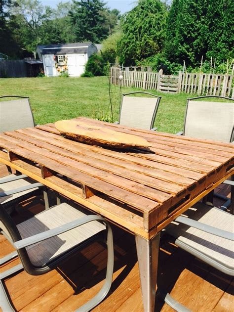 Diy Pallet Patio Table