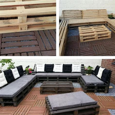 Diy Pallet Sectional Outdoor