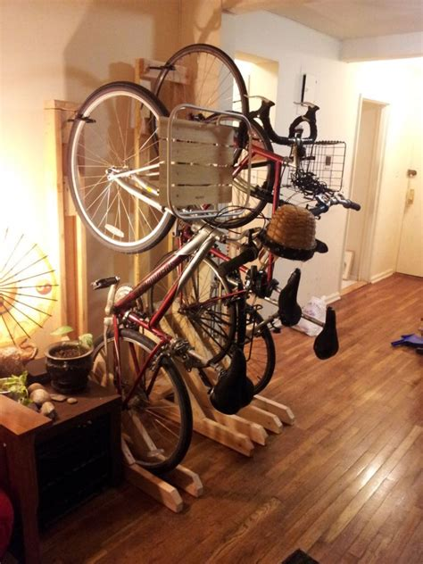 Diy Pallet Wood Bike Rack