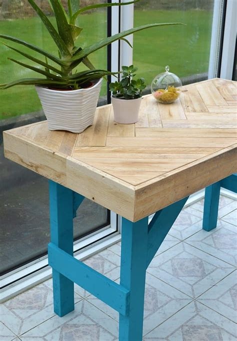 Diy Pallet Wood Table Top Overlay