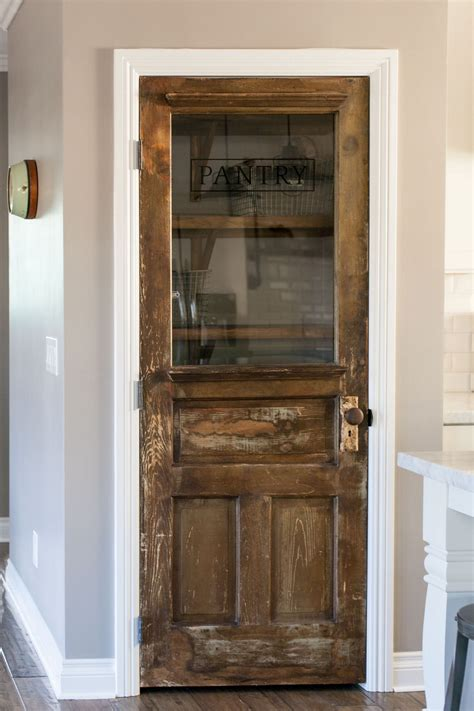 Diy Pantry Door From Old Door Glass