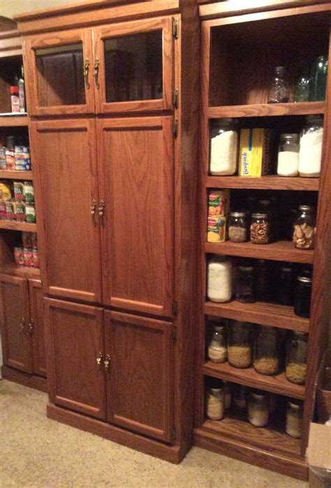 Diy Pantry From Entertainment Center Cabinet
