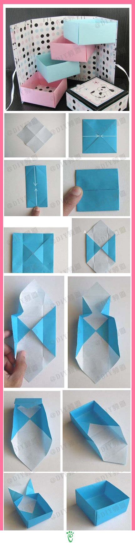 Diy Paper Box Pinterest