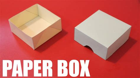 Diy Paper Box With Lid