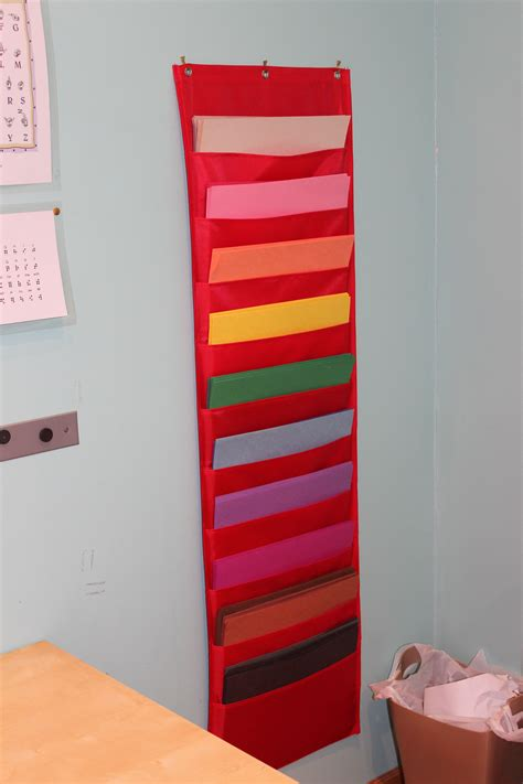 Diy Paper Holders On Wall Made With Construction Paper