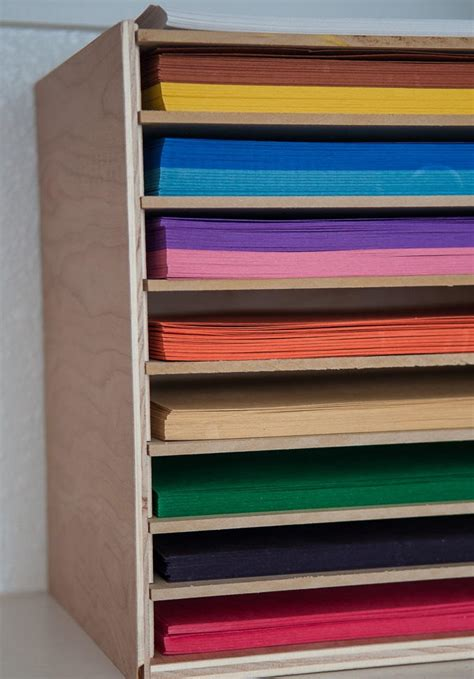 Diy Paper Storage Shelves