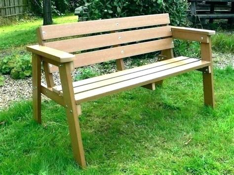 Diy Park Bench With Planters