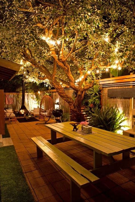 Diy Patio Canopy And String Lights