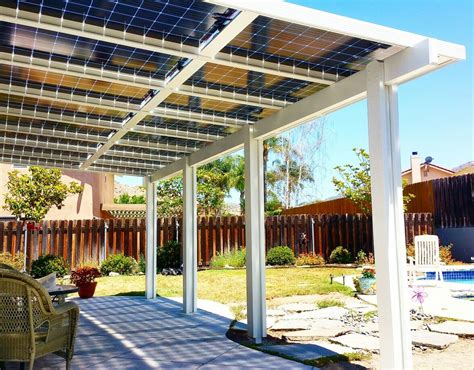 Diy Patio Cover Using Solar Panels
