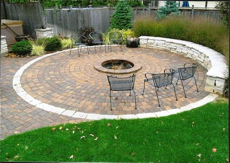 Diy Patio Fire Pit Sitting Wall