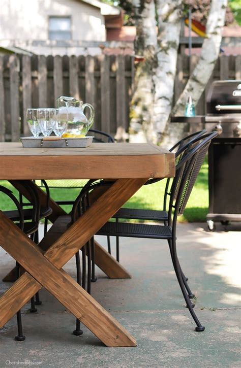 Diy Patio Table Base