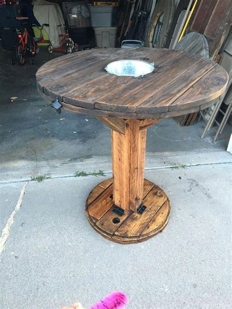 Diy Patio Table Spool Lazy