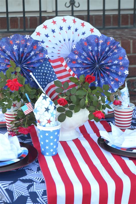 Diy Patriotic Table Decorations
