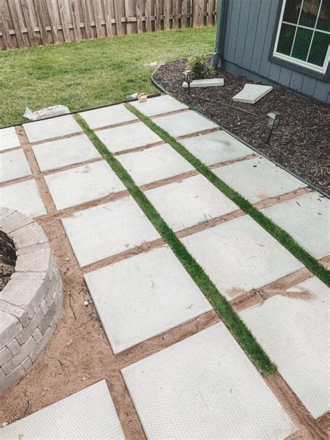 Diy Pavers With Grass In Between