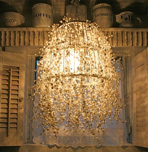 Diy Pearl Chandelier Lighting