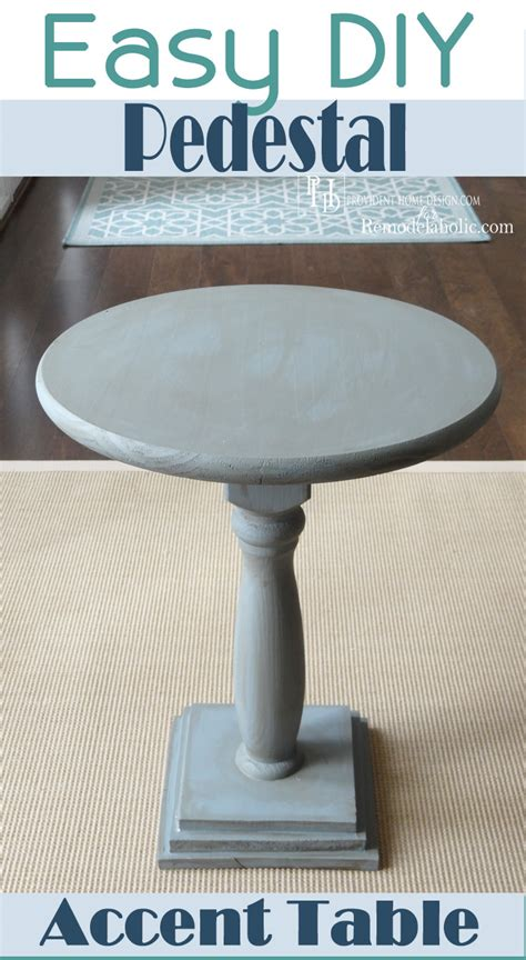 Diy Pedestal Accent Table