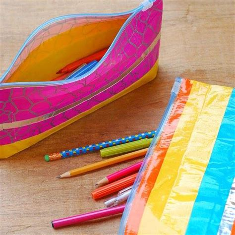 Diy Pencil Case With A Ziploc And Duct Tape