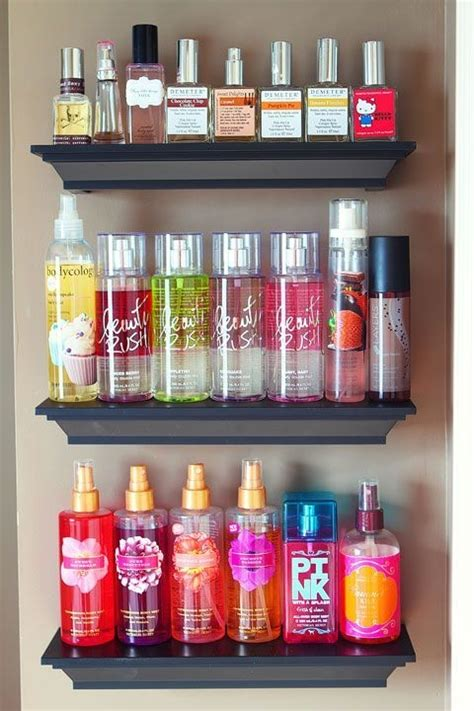 Diy Perfume Organizer Shelf