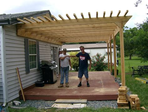 Diy Pergola Attached To House Plans