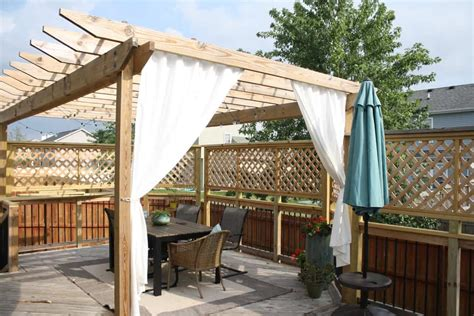 Diy Pergola Curtain