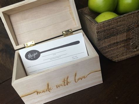 Diy Personalized Recipe Box