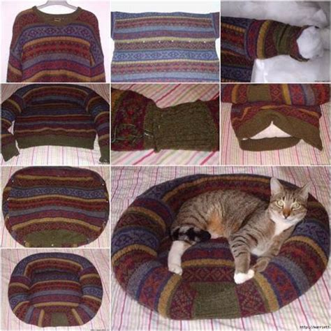Diy Pet Bed From Sweater Weather