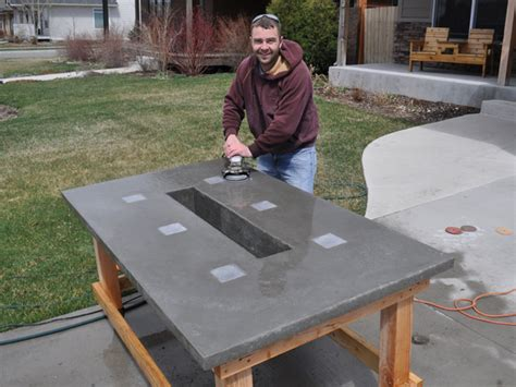 Diy Pete Concrete Patio Table