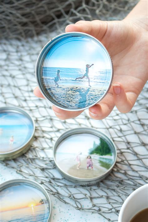 Diy Photo Coasters With Resin