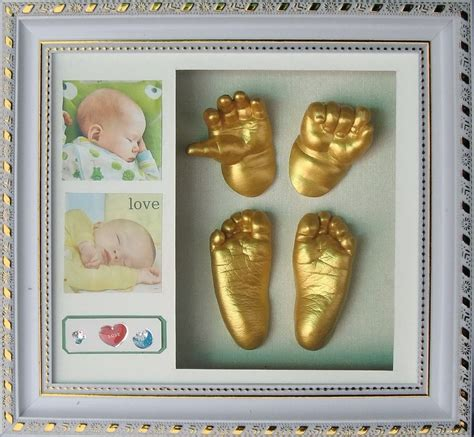 Diy Photo Frame With Baby Handprint Kit