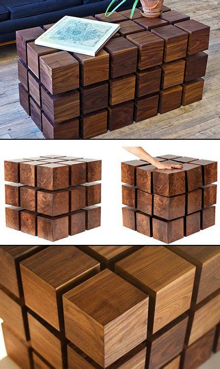 Diy Photo On Wood Cube Coffee