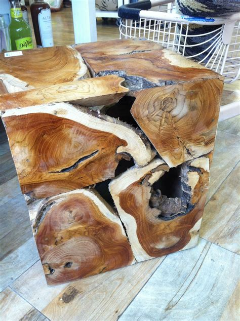 Diy Photo On Wood Cube End Table