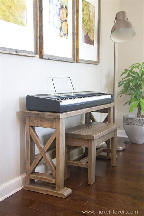 Diy Piano Stand And Bench