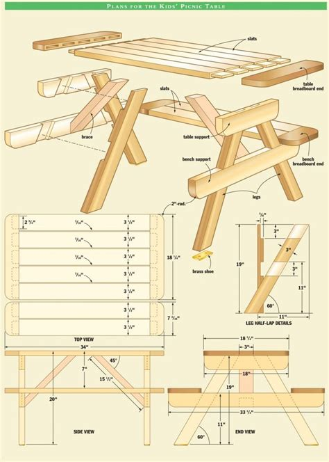 Diy Picnic Table Plans Australia