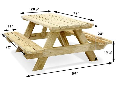Diy Picnic Table Plans Metric To Inches
