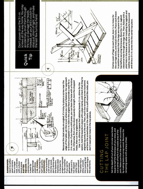 Diy Picnic Table Plans Popular Mechanics
